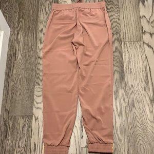 Light Pink Tie-Up Pants